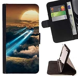 BullDog Case - FOR/LG OPTIMUS L90 / - / Space flight Sunset /- Monedero de cuero de la PU Llevar cubierta de la caja con el ID Credit Card Slots Flip funda de cuer