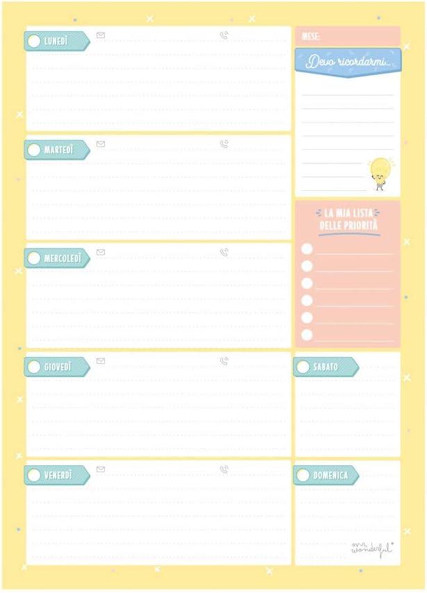 Planner verticale per settimane molto pi/ù che organizzate