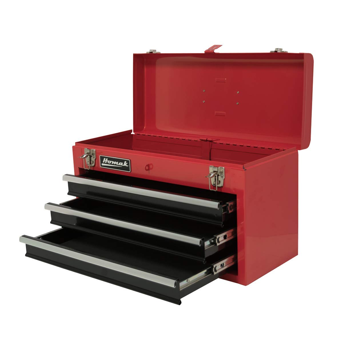 Homak 20-Inch 3-Drawer Ball-Bearing Toolbox/Chest, Red, RD01032101 by Homak Manufacturing (Image #1)