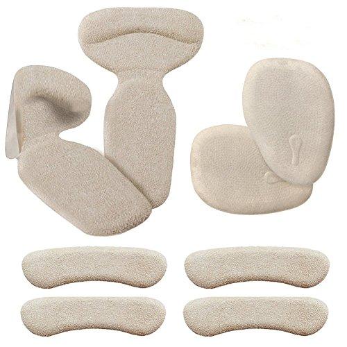 Biwat Haut Talon Coussinets (8 pcs) - Haut Talon Grips, inserts Talon, Talon antidérapant Semelles Dos Liner Haut Talon Coussins pour chaussures de démarrage (Beige) Beige