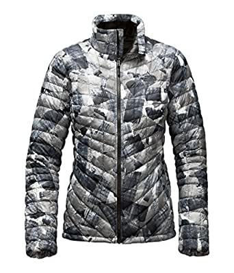 The North Face Women's Thermoball Full Zip Black Swashed, X-Small