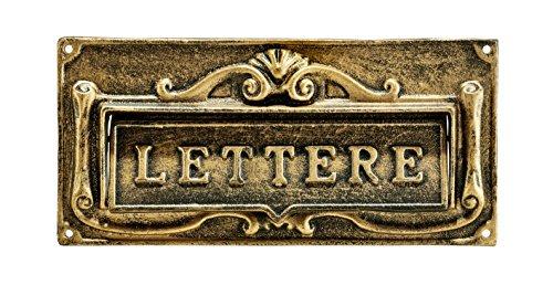 AdirHome Bronze Steel Fabulous Italian Through-Door Mail Slot - Opening Standard Mail Slot