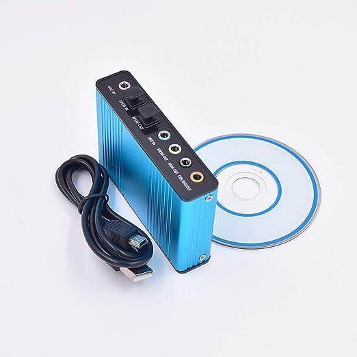 ULTECHNOVO Tarjeta de sonido de fibra óptica USB 5.1 Reproducción ...
