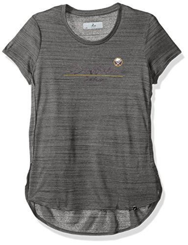 NHL Buffalo Sabres Women's Lux Cursive Active Tee, X-Large, Heather Grey ()