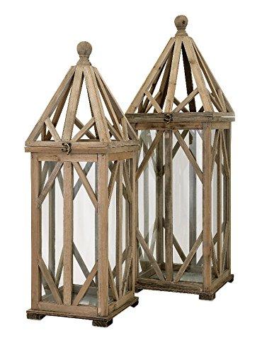 IMAX Garmen Wood Lantern - Small