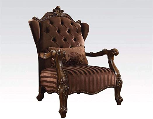 ACME Versailles Brown Velvet Chair