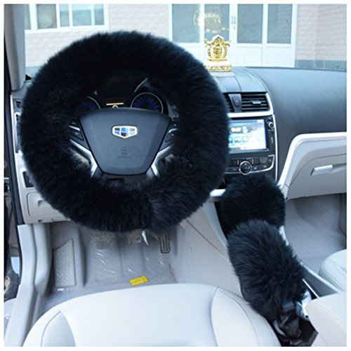 fendior-3-pcs-1-set-winter-warm-faux-wool-steering-wheel-cover-with-handrake-cover-gear-shift-cover-