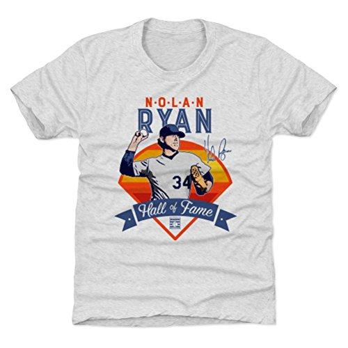 500 LEVEL Houston Baseball Youth Shirt - Kids Large (10-12Y) Tri Ash - Nolan Ryan Fame Hou B