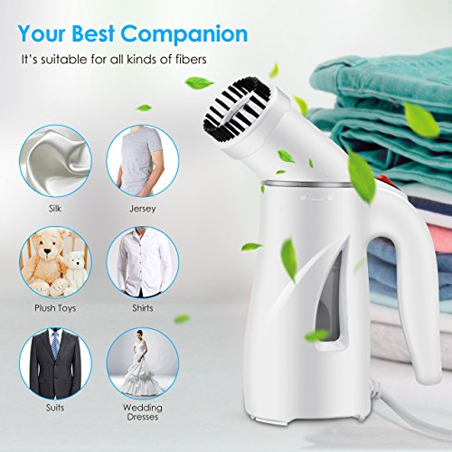 Large Product Image of PICTEK Steamers for Clothes, Fast Heat-up Handheld Garment Steamer, Compact Portable Wrinkle Remover Fabric Steamer with Automatic Shut-Off, Pouch for Travel, Home, Office, 110ml
