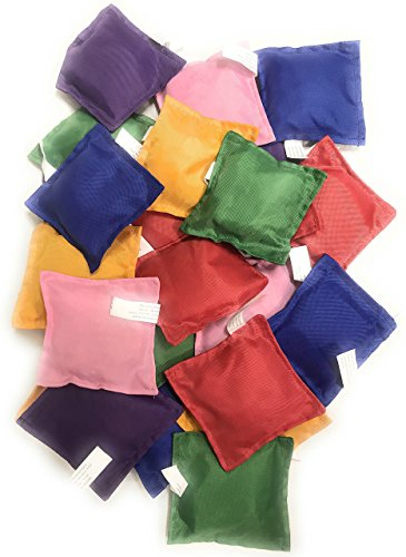 Oojami Nylon Bean Bags Toy Assorted (3.5 Inches x 3.5 Inches, 24 Piece)