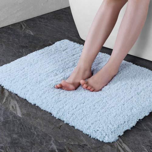 NORCHO 27x17 Bath Mat Indoor Doormat Non Slip Rubber Backing Door Mat for Front Door Entrance Rugs Machine Washable Mats Light Blue