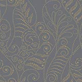 York CP1269 Candice Olson Modern Fern Wallpaper Gold on Charcoal