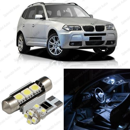 Bmw X3 Interior (Splendid Autos Xenon WHITE LED BMW X3 E83 Interior Package Deal 2004 - 2010 (12 Pieces))