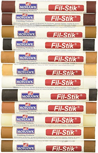 (Mohawk Fill Stick (Fil-Stik) Furniture Cabinet Touch Up Putty Wax Filler 12 Pack Multi Kit)
