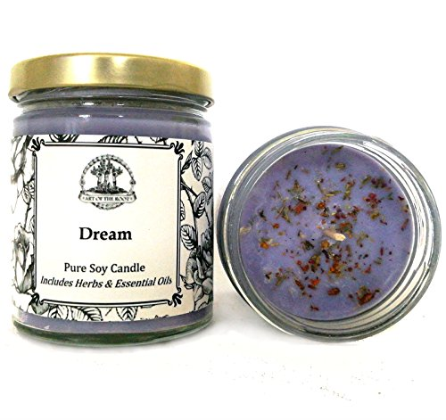 Art of the Root Dream 8 oz Soy Herbal Spell Candle for Prophetic Dreams,  Visions, Intuition & Insight Wiccan Pagan Hoodoo Magick