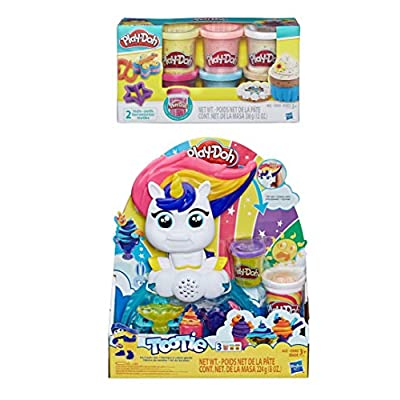 PD Play Doh Tootie Ice Cream Set + Play Doh Confetti Compound: Toys & Games