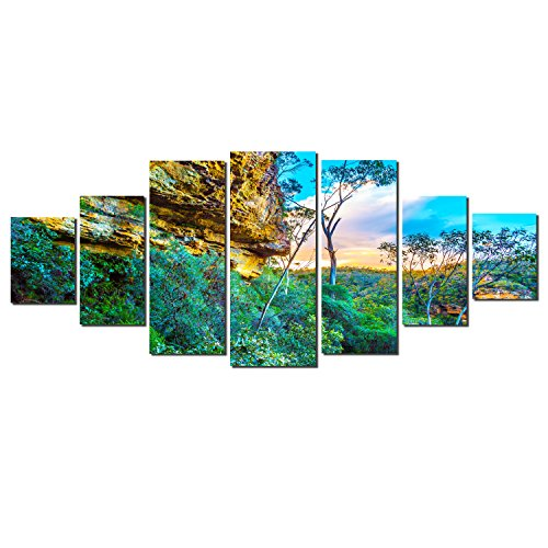 Startonight Huge Canvas Wall Art Secrets of Nature , USA Large Home Decor, Dual View Surprise Artwork Modern Framed Wall Art Set of 7 Panels Total 39.37 x 94.49 inch by Startonight
