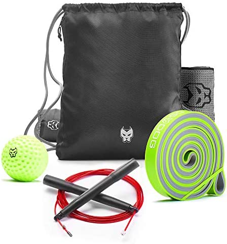 KONUNGR Workout Set for Home Fitness on Quarantine - Pull Up Band - Massage Ball - Sport Towel - Jump Rope - Stay at Home & Get Fit During Isolation 1