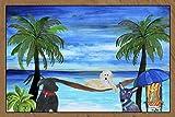 Dogs on the Beach Art Rug Indoor Outdoor Floor Mat (36x60)