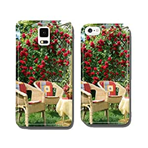 Beautiful climbing rose on the terrace cell phone cover case Samsung S6