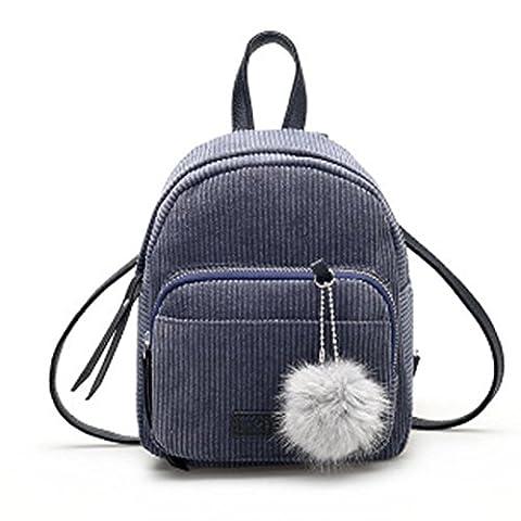 Women Leather Backpacks ,Kaifongfu Schoolbags Travel Shoulder Bag (Size:24cm20cm10cm/5.17.87.9