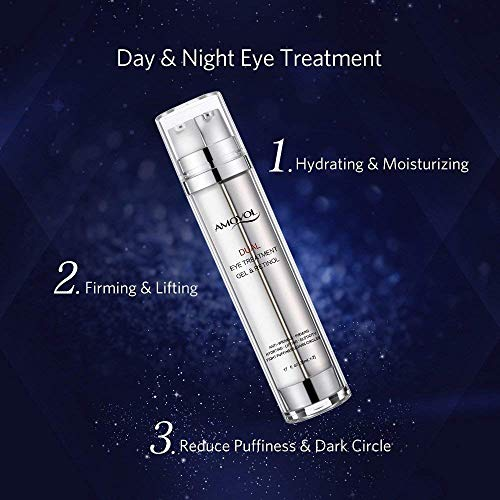 51r%2BtHYIcLL - Eye Gel Retinol for Dark Circles, Puffiness, Wrinkles and Bags, Day & Night Anti-Aging Eye Dual Treatment Cream for Under and Around Eyes, Best Gifts for Women and Men, 2 x 0.85oz