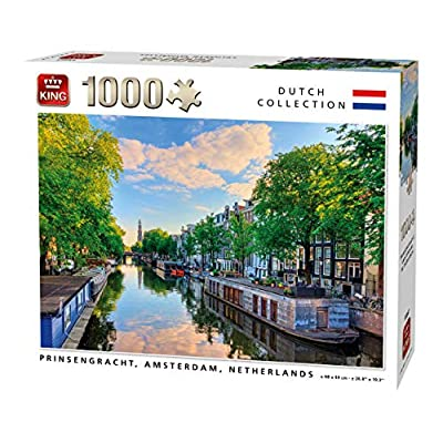 King 55867 Prinsengracht Canal Amsterdam Puzzle 1000 Pezzi A Colori 68 X 49 Cm