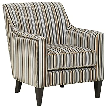 Brilliant Gfa Bloomsbury Silver Stripe Armchair Accent Chair Amazon Home Interior And Landscaping Dextoversignezvosmurscom