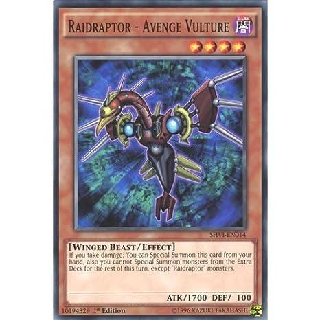 Amazon.com: YuGiOh : SHVI-EN014 1st Ed Raidraptor - Avenge ...
