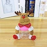 Meiyiu Christmas Plush & PVC Candy Container Jars Small Santa Claus elk