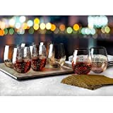 Shannon Crystal Gold Luxe Stemless Wine Goblets Set of 8 Review