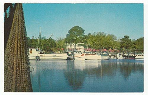 Inner Harbor, Ocean Springs, Mississippi Vintage Original Postcard #2863 - 1960's (Postcard Mississippi)