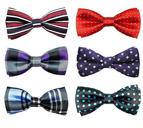 6pc Adjustable Pre-tied Boys Bow Tie Accessory Set by Zakka Republic (BBT-02)