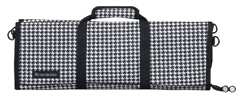 Messermeister 12-Pocket Padded Knife Roll, Houndstooth - Houndstooth Pocket