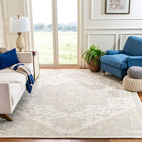 Safavieh Micro-Loop Collection MLP503B Handmade Wool Area Rug, 9 x 12 , Ivory Beige