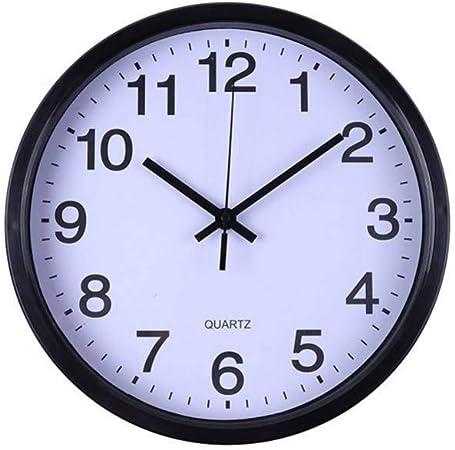 ALKLKJ Reloj de Pared Reloj Digital de Pared Reloj de Moda Reloj de Cuarzo Hotel 12 Pulgadas Reloj de Cuarzo Colgante: Amazon.es: Hogar