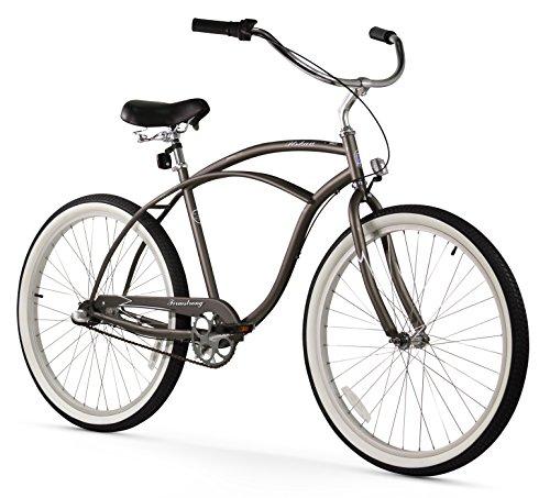 Mens Cruiser Speed 3 (Firmstrong Urban Man 3-Speed Beach Cruiser Bicycle, 26-Inch, Matte Grey)