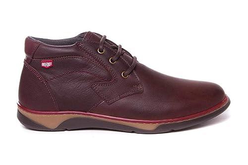 Botines de Hombre Hechos en Piel Marrón - Muy cómodos y Flexibles - Hecho en España - On Foot 11602: Amazon.es: Zapatos y complementos