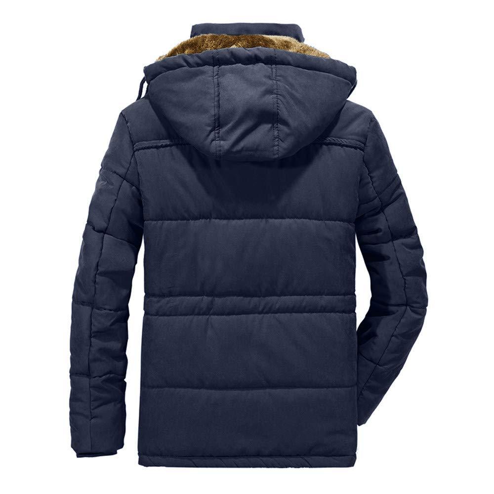 Balakie Mens Plus Size Padded Cotton Coat Windproof Warm Zipper Pocket Jacket