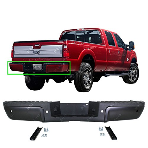 MBI AUTO - Primered Steel, Rear Bumper Assembly for 2008-2014 Ford F250 F350 F450 Super Duty Pickup 08-14 W/Park, FO1103151