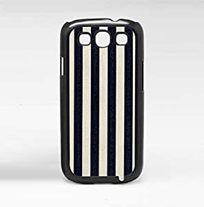 Blue and White Denim Stripes Hard Snap on Phone Case (Galaxy s3 III)