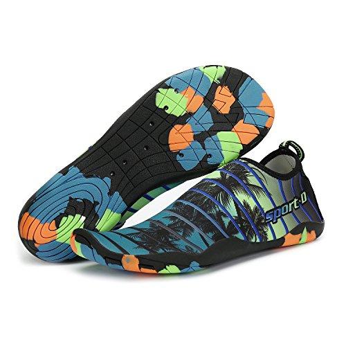 Xylylyl Wasser Schuhe Männer und Frauen multifunktionale leichte flexible atmungsaktiv schnell trocken Strand Aqua Haut Socken Strandgrün