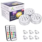 Waterproof Underwater Light, ALED LIGHT Hot Tub Lights 3 Pack 13 LEDs RGB Submersible Pool Lights with Suckers/Remote…