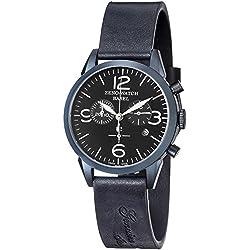 Zeno Men's 4773Q-BL-A1 Vintage Line Analog Display Swiss Quartz Blue Watch