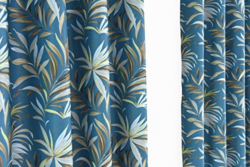 ITEXTILOGIE Blackout Grommet Print Curtains for Bedroom|Room Darkening Thermal Insulated Curtain Noise Reducing Panels Window Draperies for living room(2 Panels,53x63 inch Each Panel,Bamboo) by ITEXTILOGIE (Image #1)