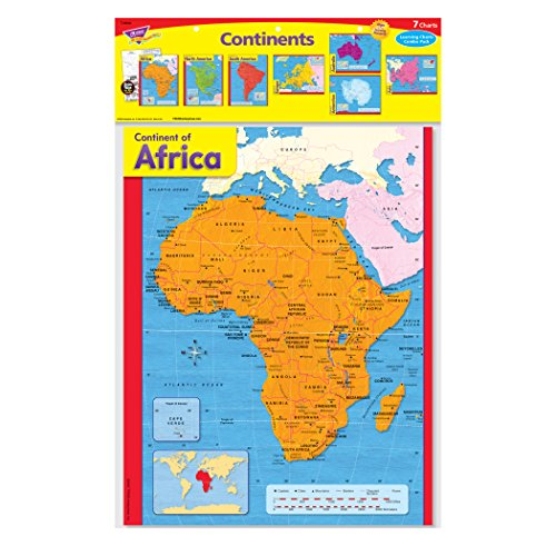Trend Enterprises Continents Learning Chart Combo Pack (T-38930) Photo #2