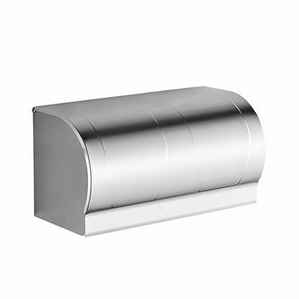 Espacio De Perforación Libre De Aluminio Titular De Papel Higiénico Bandeja De Papel Higiénico Caja De
