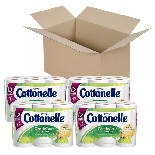 (Cottonelle Gentle Care Toilet Paper with Aloe and E, 12 Rolls, Pack of 4 (48 Rolls))