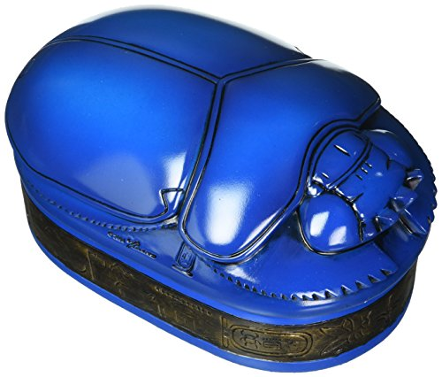 Egyptian Décor Trinket Box - Pharaoh Amenhotep Royal Scarab Jewelry Box - Egyptian Statues