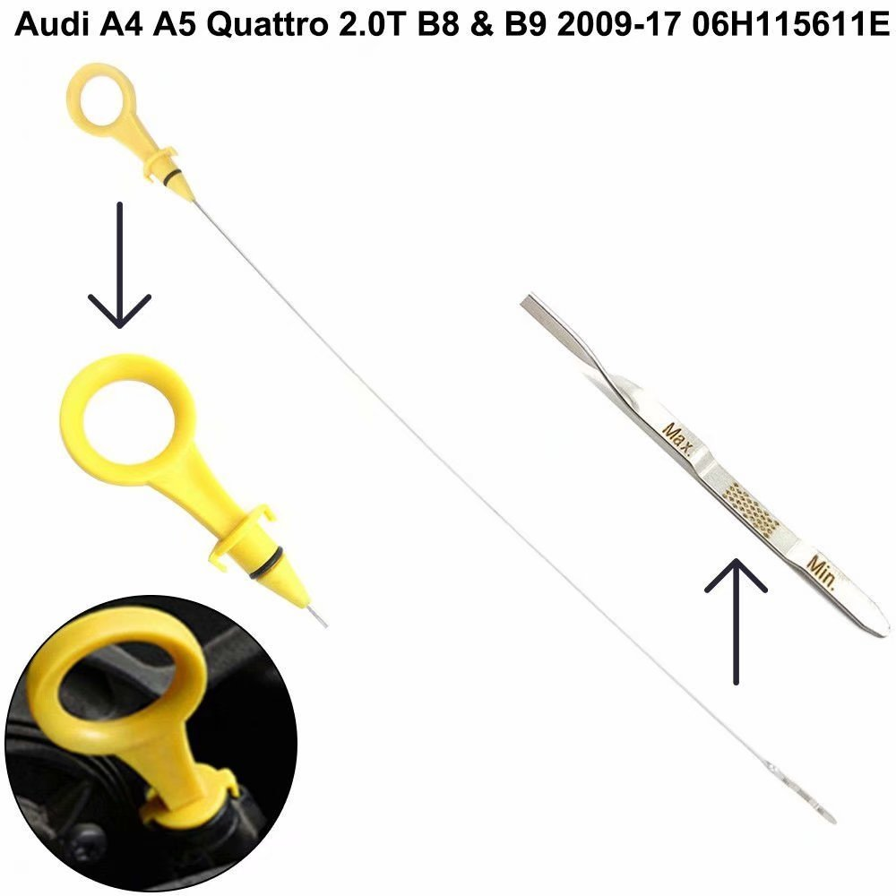 HonsCreat 06H-115-611E Engine Oil Dipstick Fits for Audi A4 A5 2.0T